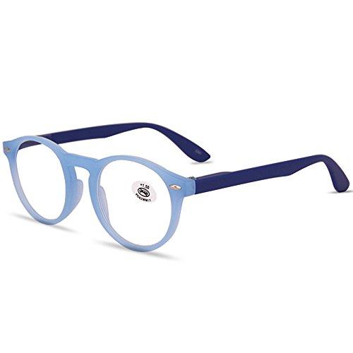 VEVESMUNDO Lesebrillen Damen Herren Retro Runde Lesehilfe Sehhilfe Arbeitsplatzbrille Nerdbrille...