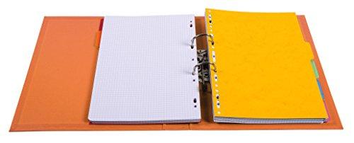 Exacompta 53054E Premium Kunststoff-Ordner (PVC, 2 Ringe, Rücken 50 mm, DIN A4) 10 Stück Farbkombination - 4
