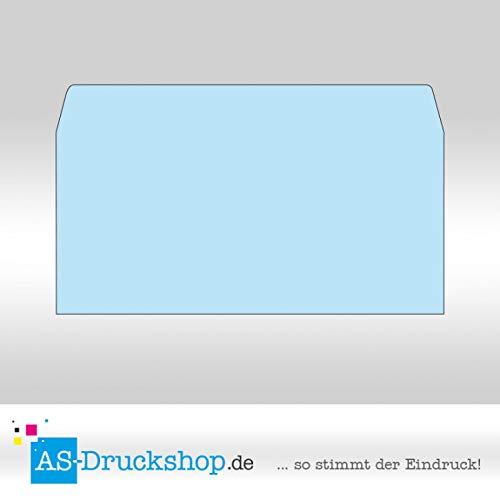 Farbiger Briefumschlag/Kurvert - Hellblau/Din Lang / 25 Stück