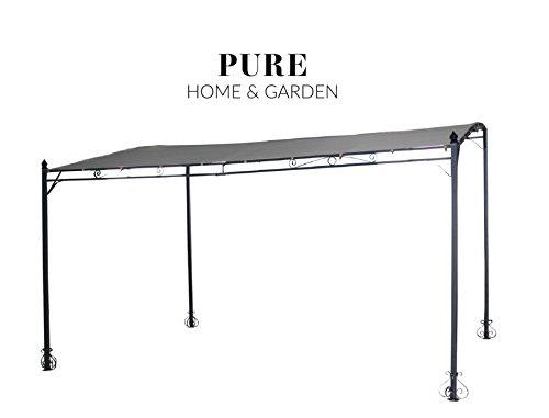 Pure Home & Garden Luxus XXL Anbaupavillon Latina Natur, UV-Schutz 40 Plus, 300 x 400 cm