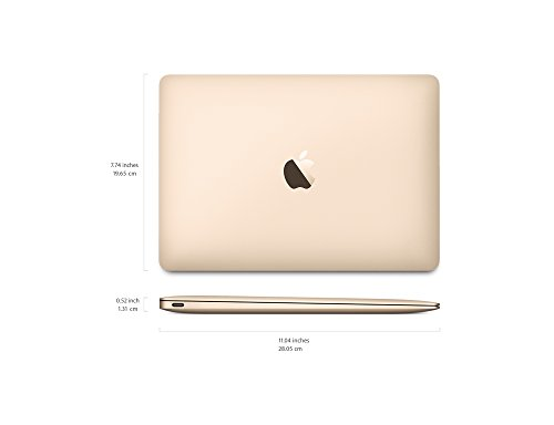 Apple MNYK2HN/A 12-inch Laptop (Core m3/8GB/256GB/Mac OS/Integrated Graphics), Gold