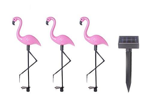en Ornament - Flamingo Outdoor-Neuheit Beleuchtung Wetterbeständig (3 Pack Standard-Kunststoff) (Flamingo Ornament)
