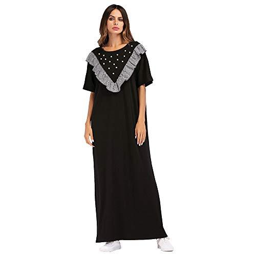 Yan yang Europäische und amerikanische Art und Weise der Frauen Stricken Kariertes nähendes perlenbesetztes islamisches moslemisches nationales Kostüm orientalische ()