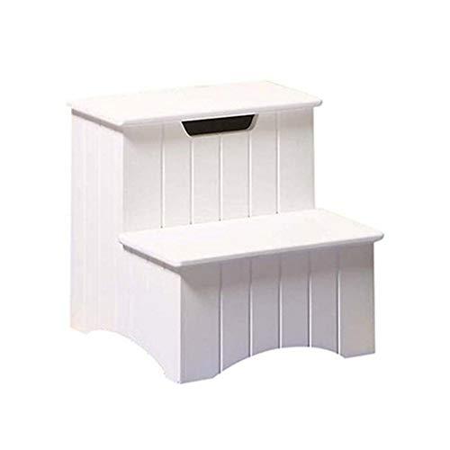 JTDBO Tragbarer Trittleiter, klappbare Aufstiegsleiter, Kindermassivholzpedal, Nachttisch, bewegliche Treppe (Color : White) - Kleinkind-nachttisch