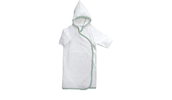 07030a3efd Organic Hooded Kimono Robe Natural Sage (NB - 6 Months)  Amazon.co.uk  Baby