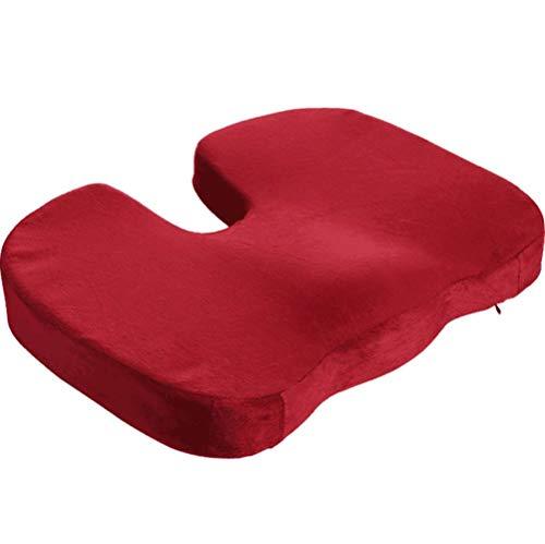 Cushion Travel Breathable Seat Cushion Coccyx Orthopedi Memory Foam U Seat Massage Chair Cushion Pad Car U-Shape Seat Cushion,red,Aordinary -