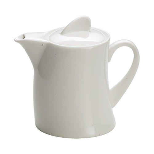 Maxwell & Williams Sway Kaffeekanne, Kaffee Kanne, Porzellan, Weiß, 500 ml, JX31622
