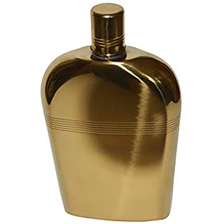 all-around24® Stainless Steel Hip Flask, Stainless Steel, Gold, ca.300ml