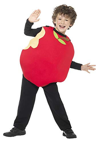 Smiffys Kinder Unisex Apfel Kostüm mit ärmellosem Oberteil, One Size, 43137