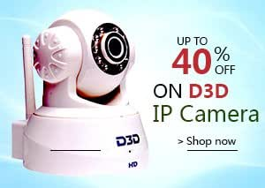 D3D Wireless Roteting IP Camera Full HD,Night Vision, Android &iPhoneView