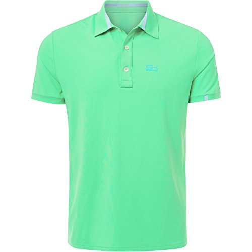 Sportkind Jungen & Herren Tennis/Golf/Sport Poloshirt, lindgrün, Gr. L