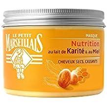 Le Petit Marseillais - Masque Nutrition Cheveux Secs/Abîmes/Cassants - Au Lait et beurre de Karite et Miel - Pot 300 ml - Lot de 2