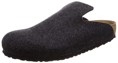 Birkenstock davos pantofole da donna in lana - grigio (antracite) 38 anthracite