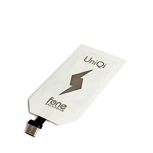 UniQi - Type-C Thin Qi Wireless Charging Receiver for USB Type C phones such as Google Pixel, Pixel XL, LG G6, Nexus 6P, 5X, HTC 10, LG G5, G5 SE, OnePlus 2, 3, 5 (USB-C) For a Soft Case