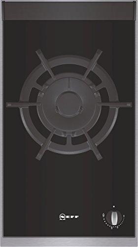 Neff Domino NK 2435 N Kochfeld / 30,60 cm / Gas-Glaskeramik-Kochfeld mit integrierten Kochstellenreglern / edelstahl
