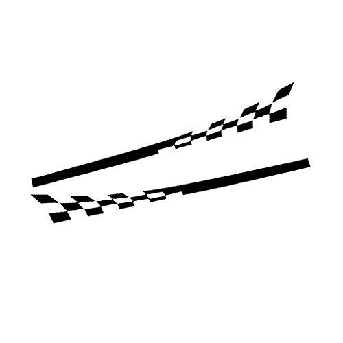 (F Fityle Fahrzeuge Aufkleber Reflektierende Selbst klebend Kleber- Weiß/Schwarz - Schwarz)