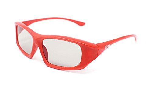 2 paar rote Passive 3D Brillen Universal für alle passiven 3D-Kinos TV und Projektoren wie Imax LG Toshiba und Panasonic