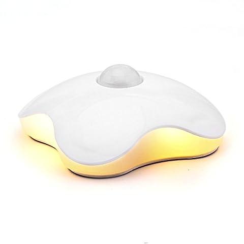 Lampe LED Lumineuse Détecteur De Mouvement USB Rechargeable Veilleuse De Nuit Mural Avec Capteur De LumièRe Pour Chambre Salon Placard Escalier Couloir