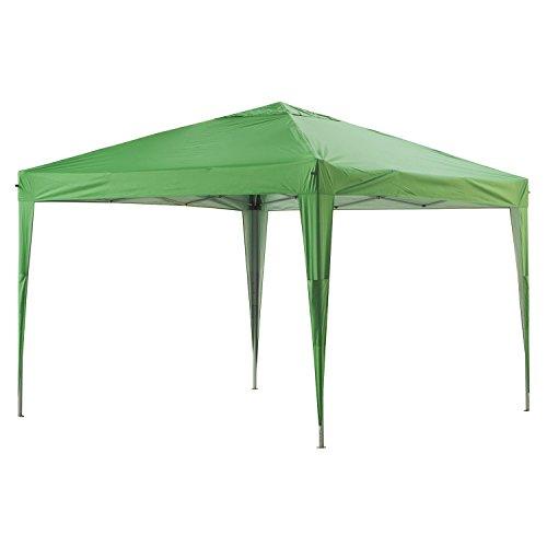 GREADEN Tonnelle de jardin verte 3x3m ECO BRISO - Tube 30mm en aluminium & acier - Bâche 420D - Tente pliante - GR-1FZ33420AO3