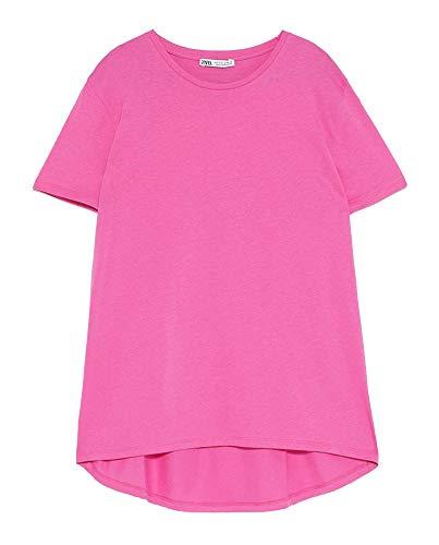 ZARA Damen Asymmetrisches t-Shirt 4174/025 (Large)