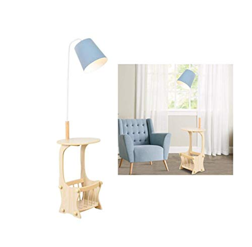Moderne Stehleuchte Multifunktions-Stehleuchte Moderne Wohnzimmer-Stehleuchte Aufbewahrungstisch Schlafzimmer Arbeitszimmer Hotel Restaurant Office Shop Kinderzimmer Lesen (Color : Blue)