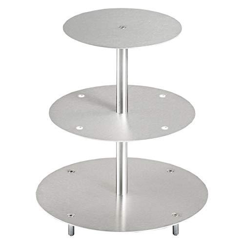 Eine Etage (Tortenständer Rund Tortenetagere Aluminium 3 Etagen, Hochzeitstortenständer Etagere Ø 20-25 - 30 cm)