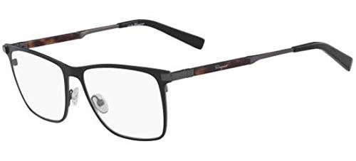 Salvatore ferragamo occhiali da vista sf 2165 matte black uomo
