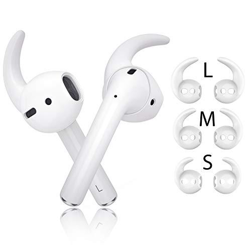 innoGadgets EarPlugs X | Aufsatz kompatibel mit AirPods und EarPods | Fester Halt für Sport und Freizeit - mit 3 verschiedenen Größen [S/M/L] | [Kopfhörer Nicht enthalten] Weiß