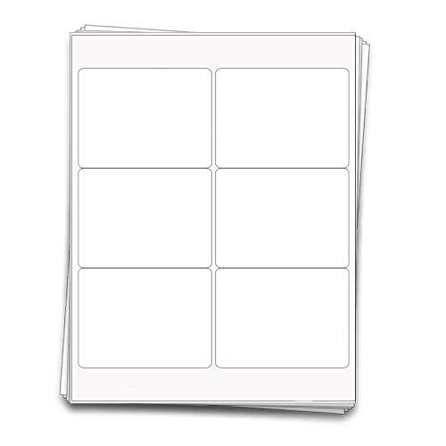 che Weiß Vinyl bedruckbare Etiketten, 10,2x 7,6cm, wetterfest und wasserdicht ()