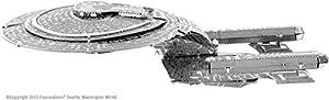fascinations, Starship NCC Metal Earth-Maqueta Metálica 3D Star Trek USS Enterprise NCC-1701-D, Packaging e Instrucciones en Castellano, Multicolor (MMS281C2)