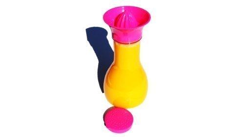Citrus Pink - Mixer - Flasche 1,2 Liter mit integrierter Zitrus- / Orangenpresse für frische Getränke Juicy Salif