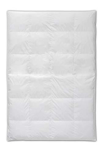 Böhmerwald Exclusiv Daunendecke, allergikergeeignet, 100% Gänsedaunen, 135x200 cm, Weiß