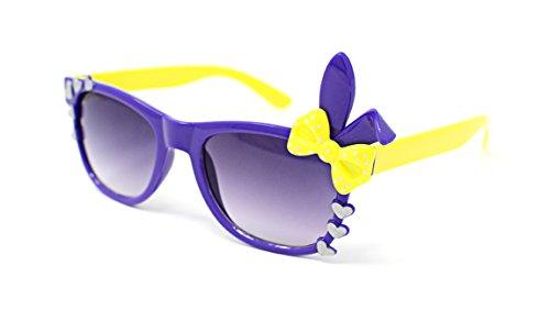 Ultra ® Lila Kinder Häschenohr Herzbogen Stil Multi Color Gradient Lens Klassische Rahmen Perfekt für Kostüme Partys Brille Kids Nerds Geek World Book Day Cosplay Kostüm Unisex