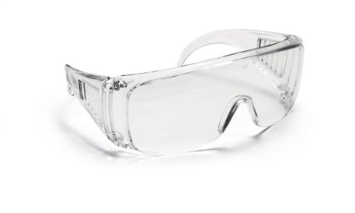 SAS Safety 5120 Worker Bee Safety Glasses with Polybag, Solid Clear Frame/Clear Lens by SAS Safety
