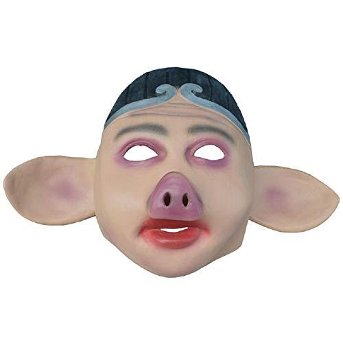 MIANJUTIA Einzigartige Halloween-Tier Horror Gesichtsmaske Neuheit Lustige Latex Gummi Gruselige Kopf Masken für Karneval Kostüm Party