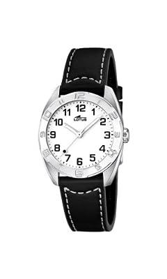 Lotus 0 - Reloj de Cuarzo para Mujer, con Correa de Cuero, Color Negro