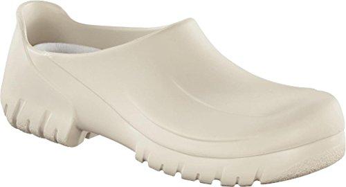 Alpro Safe&Clean Clog weiß mit Stahlkappe, Größe 36 (Alpro Leder)