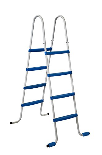 Piscinas Toi 4870 - Escalera de 8 peldaños para piscinas desmontables, 82 x 68 x 145 cm, color blanco