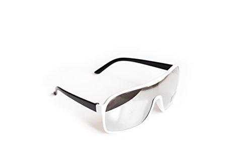 Piloten-Brille Weiß Verspiegelt Sonnen-Brille Flieger-Brille UV-Schutz 400 Herren Damen Unisex...