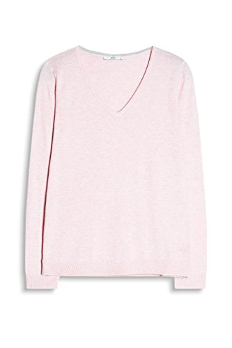 edc by ESPRIT Damen Pullover Rosa (LIGHT PINK 690)