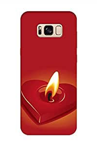 AMAN Candle 3D Back Cover for Samsung Galaxy S8 Plus