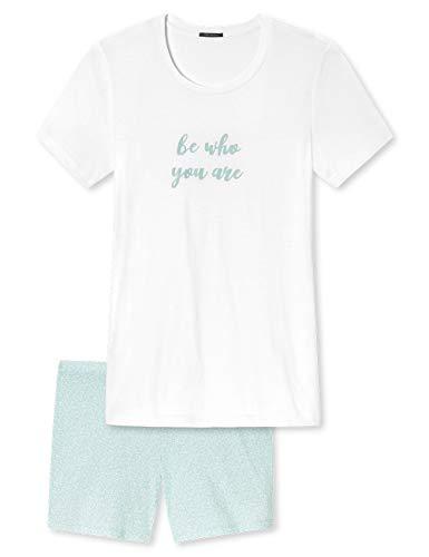 Schiesser Damen Kurz Zweiteiliger Schlafanzug, Grün (Mint 708), (Herstellergröße: 36)