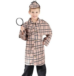 Sherlock Holmes - Kinder-Kostüm - Large - 134 bis 146 cm