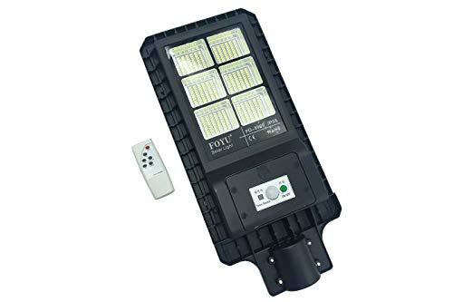 Lámpara de calle 60 LED 60 W Panel fotovoltaico energía solar exterior IP65 La solución definitiva para ahorrar y al mismo tiempo iluminar de forma eficaz. Esta lámpara LED de carretera con energía solar es un concentrado de tecnología, innovación y ...