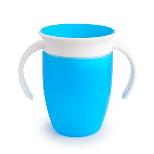 Munchkin Miracle 360ᵒ Trinklernbecher mit Griffen, blau, 1er-Pack (207 ml) Trinken Tasse