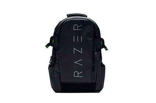 Razer Rogue Laptop Rucksack (für Gamer, Wasserfester mit schützender Innengestaltung und bis 15 Zoll) schwarz
