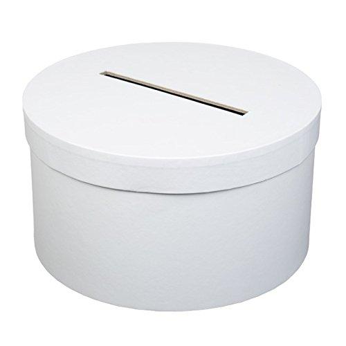 Af - Urne tirelire ronde blanche 25cm