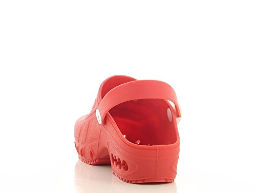 Safety Jogger Oxypas, Oxyclog, Unisex-Erwachsene Arbeitsschuhe, Clogs Red