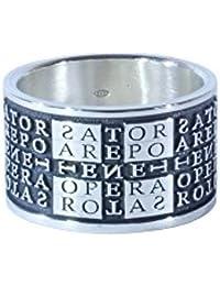 EVA WORDS, Anello Ring L in argento 925 - mod. Sator
