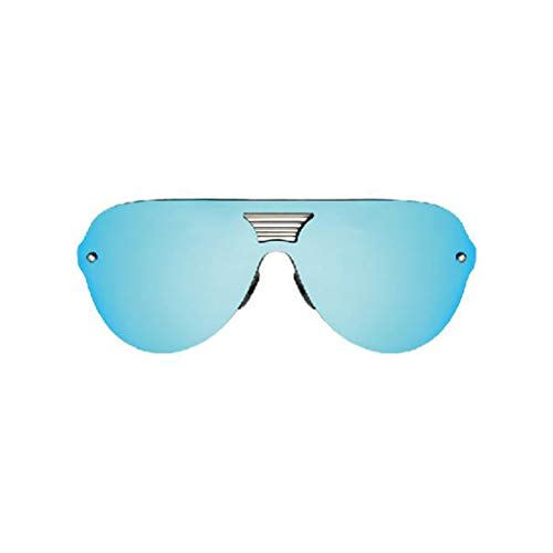 YIWU Brillen Promi gleichen Absatz Sonnenbrillen Paar Brille Sonnenbrille weiblich Farbfilm reflektierende Stern rundes Gesicht Spiegel Persönlichkeit Retro Brillen & Zubehör (Color : 2)